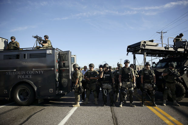 Police in Ferguson, Missouri