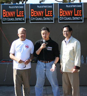 Tony Santos, Benny Lee and Hendy Huang