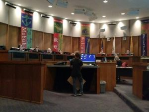 Washington Elementary student Oscar Ivy asked the San Leandro School Boards to fund school supplies, not cops.